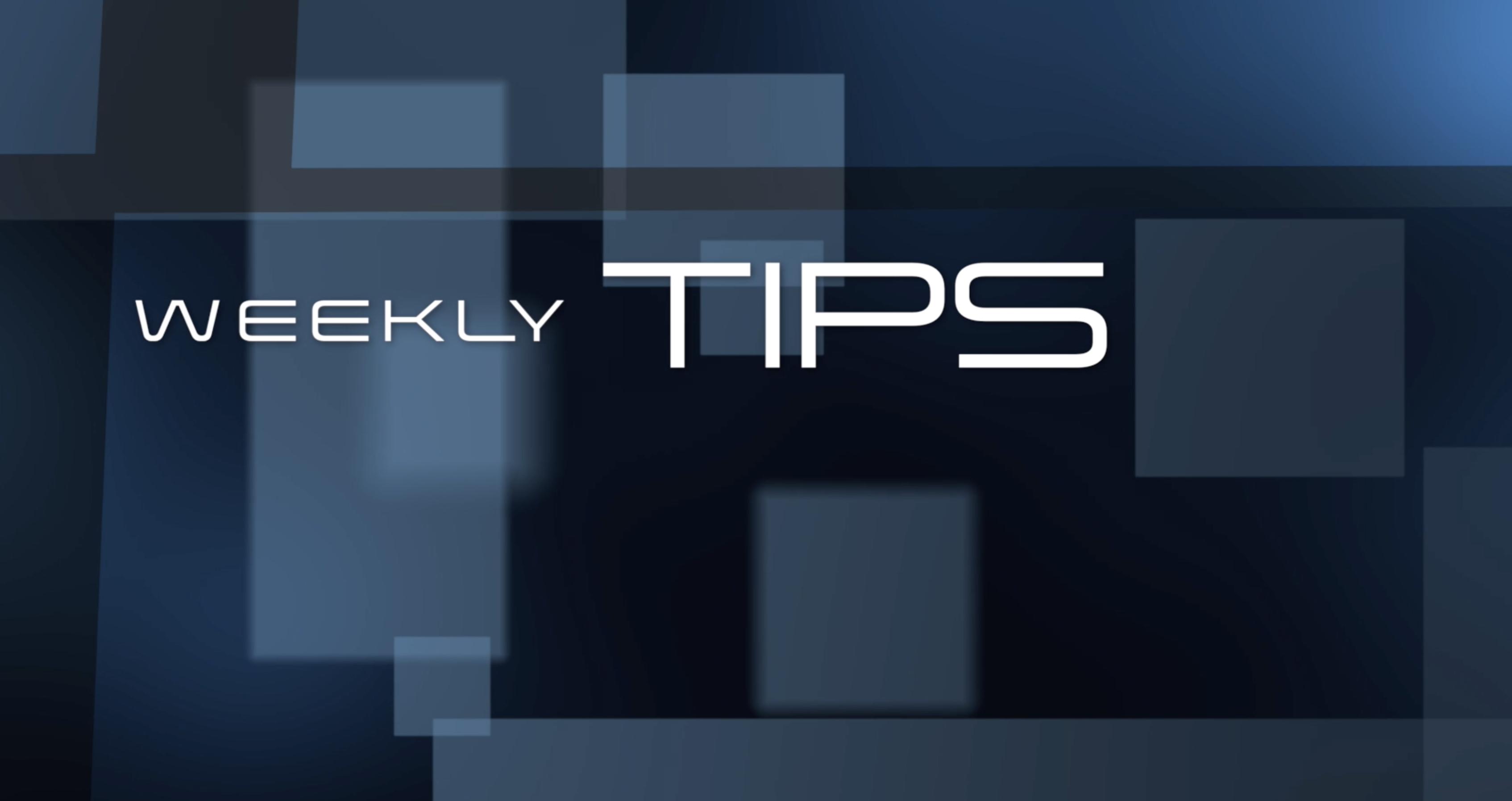 Consigli settimanali